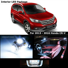 8PCS Cool White LED Bulb Interior Package Kit For 2013 -  2016 Honda CR-V CRV