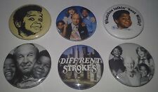 6 Diff'rent Strokes badges 25mm Gary Coleman Different Season 1 2 3 4 Willis