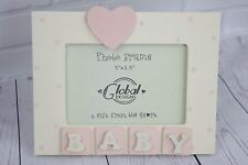 Baby Pink Photo Frame 3D Baby Picture Frame Nursery New Born Gift F0427a