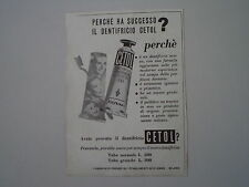 advertising Pubblicità 1953 DENTIFRICIO CETOL GIVIEMME