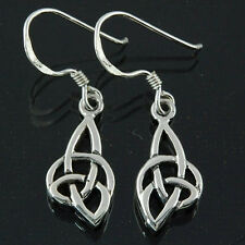 Stylish Pure Sterling Silver 925 Celtic Knot Spiral Earrings