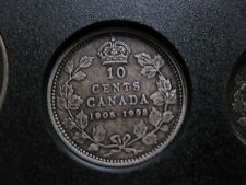 1998 Canadian Silver Proof Dime ($0.10) - 90th Anniversary 1908-1998 Antique