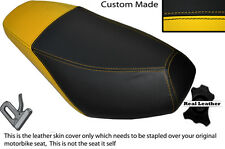 BLACK & YELLOW CUSTOM FITS CPI ARAGON 125 50 DUAL LEATHER SEAT COVER ONLY