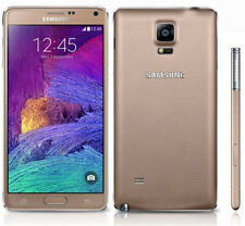 Unlocked Samsung Galaxy Note 4 4G 32GB HD Android Smartphone RAM 16.0MP Gold #B2