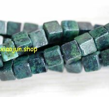 Square 8X8mm  Azurite Chrysocolla  Gems Loose Beads 15''AAA