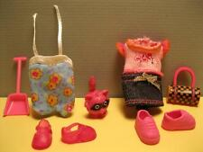 Barbie KELLY Doll Clothes-SWIMSUIT to SHOPPING DENIM SKIRT T-SHIRT RACCOON PET