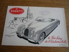 RARE BUGATTI 101 CAR BROCHURE