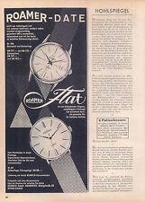 Roamer-Date-Automatic-1960-Reklame-Werbung-vintage print ad-Vintage Publicidad