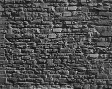 3 SHEETS EMBOSSED BUMPY BRICK stone wall 21x29cm SCALE G 1/24 CODE V635a!