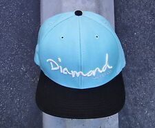 DIAMOND SUPPLY CO. SCRIPT GREEN TEAL SNAPBACK HAT