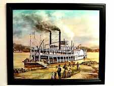 OLD GREENLAND STEAM BOAT PICTURE RIVER BOAT FRAMED 16X20
