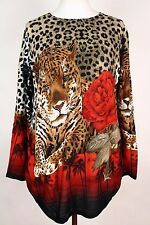 NEW WOMEN  TUNIC size  16/18  TOP LONG SLEEVE SEQUINS BLOUSE  LADIES  p 2955