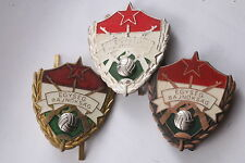 Hungary Hungarian Army Sports Badge Unit Award Soccer 1 2 3 Lot Medal