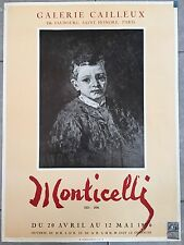 Affiche EXPO MONTICELLI Galerie Cailleux 1956