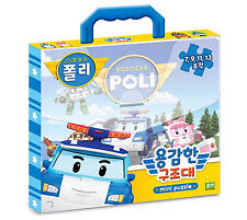 RoboCar POLI Bag Mini Puzzle Brave rescue Toy 4 Type Picture Children Kids Gift