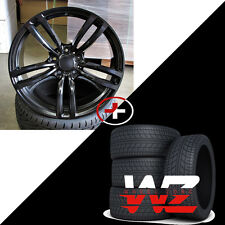 "20"" 437 Style Wheels Tires Satin Black Fits BMW 3 4 5 6 Series 128 325"