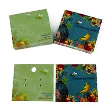 50- EARRING CARD BIRD DESIGN JEWELLERY DISPLAY CARDS  & BAGS INC