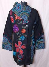 NEW UNISEX FAIR TRADE GRINGO ETHNIC HIPPY FESTIVAL FLEECE LINED JACKET COAT S/M