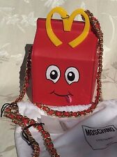 Moschino Happy Meal Bag Jeremy Scott Mc'Donalds Fast Food Authentic LMT Edition