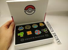 USA Seller Cosplay POKEMON Gym Badges in box Sinnoh League Set 8 Badge Pin