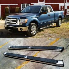 "04-14 Ford F150 Super Cab (Extended) Alunimum Nerf Bars Side Step 5"" Oval OE"