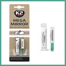 MEGA MIRROR REAR VIEW CAR ADHESIVE GLUE EASY USE STRONG FAST BOND GLASS METAL PL