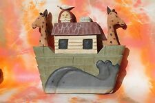 Noah's Ark Hand Painted / Carved Primitive Wall Decor
