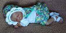 Handmade Crochet Outfit Clothes For 14- 15 inch OOAK Baby or Preemie Reborn Doll