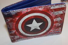 CAPTAIN AMERICA ! bi fold wallet X-Men deadpool Marvel Comics US Seller avengers