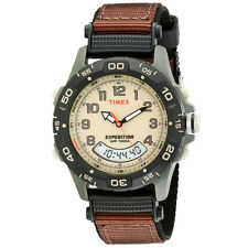 Timex Men's Expedition Analog and Digital Nylon Strap Watch, Brown/Olive T45181