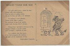 Illustratore - Cartolina Fiorentinesca - Meglio tardi che mai Venturino Camaiti