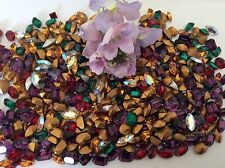 Swarovski Rhinestone Bargain Pack of 40 CRAFT Mix colour Octagon Navette Oval