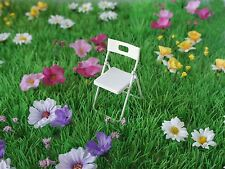 FAIRY GARDEN METAL CHAIR 1/12TH SCALE (FAIRY GARDEN ACCESSORY) - BRAND NEW