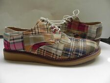Toms~NEW Multi-Colored Plaid Brogues Madras Dress/Casual Shoe Mens Size 9.5~NWOB