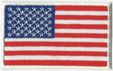 écusson ECUSSON  PATCHE THERMOCOLLANT DRAPEAU USA ETATS UNIS 8X5CM BORDURE BLANC