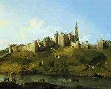 Canaletto Alnwick Castle Oil Painting Canvas Print 16x20 in