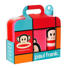 Paul Frank Lunch Box & Bottle Set (Pink/Red) 20350002