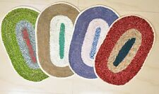 SA Collections Set of 4 Round Cotton Door Mat-(Size 13x18)
