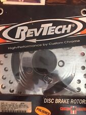 """""""RevTech"""" Stainless Steel Dual Disc Front Brake Rotors for 1977-83 Harley Davids"""