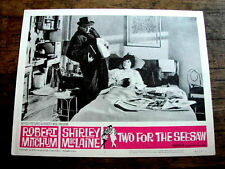 TWO FOR THE SEESAW Original Vintage Lobby Card ROBERT MITCHUM SHIRLEY MACLAINE