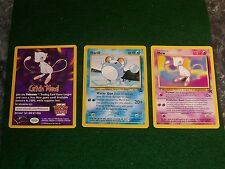 """3 pokemon CARDs """"MEW, marill & catch mew"""" MInt condition"""