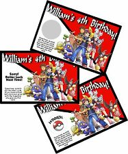 10 POKEMON PERSONALIZED SCRATCH OFF OFFS PARTY GAMES GAME CARDS BIRTHDAY FAVORS