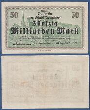 BERGEDORF (HAMBURG) 50 Milliarden Mark 1923 Erh. III / VF