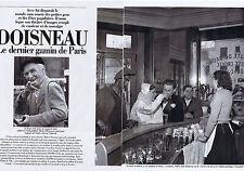 COUPURE DE PRESSE CLIPPING 1994 DOISNEAU le dernier gamin de Paris 12 pages