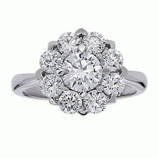 Sterling Silver Ladies Cluster Cocktail Ring with AAA quality CZ, Size 7