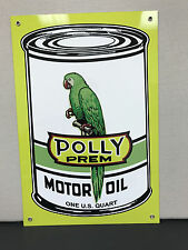 Polly motor oil can gasoline vintage advertising sign racing oil large