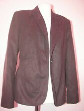 "NWT BROWN ULTRA SUEDE ( FAUX ) 'OFF SHOOT' CLASSIC BLAZER/ JACKET B 40"" UK14"