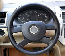 "38cm 15"" Steering Wheel Cover Durable Non-Slip Genuine Leather For Car Truck"