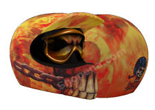 Skin On Fire Helmet Cover Flames Off Road Motorcycle Skin MX Dirt Bike ATV