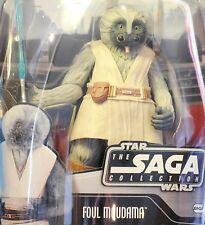 Star Wars Saga #029 Clone Wars Tartakovsky Concept Foul Moudama Jedi figure MOC